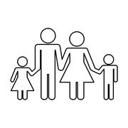 Family concept. Pictogram icon.flat and isolated design Stock Illustration