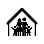 family concept. Pictogram icon.flat and isolated design - stock illustration