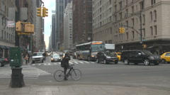 59th Street Traffic, NYC Stock Footage