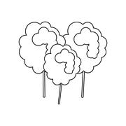 Sugar food design.  cotton candy icon. sweet illustration. vecto - stock illustration