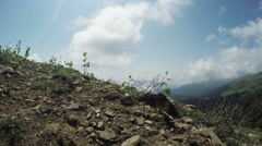 Pathway in mountains - stock footage