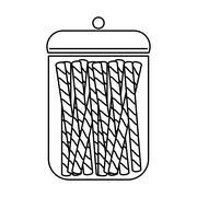 Sugar food design. candy icon. sweet illustration. vector graphi - stock illustration