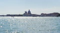 Venice Italy Cathedral Santa Maria della Salute in UHD Stock Footage