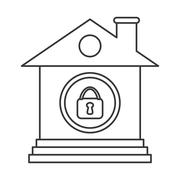 Smart House. Home and technology illustration,  isolated graphic Stock Illustration