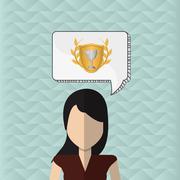 Winner design. Success icon. Flat illustration, vector graphic - stock illustration