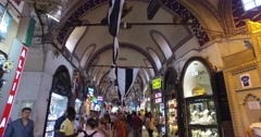 Grand Bazaar in Istanbul Stock Footage
