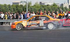 Apex Masters Turkish Drift Series Istanbul Race - stock photo