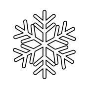 Snow design. isolated snowflake icon. vector graphic Stock Illustration