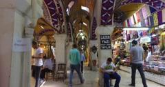 Grand Bazaar in Istanbul Stock Footage