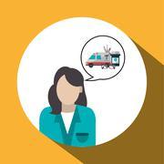 Medical care design. Health care icon. Colorfull illustration, v Stock Illustration