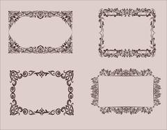 Elements of design. Frame, borders. Vector graphics. Vintage Stock Illustration