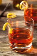 Homemade New Orleans Sazerac Cocktail - stock photo