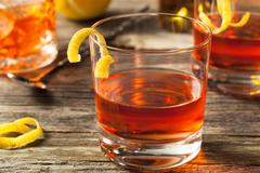 Homemade New Orleans Sazerac Cocktail Stock Photos