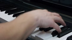 Chords on piano Stock Footage