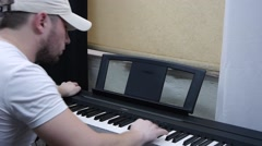 Lessons on the piano Stock Footage