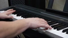 Game on the piano.Close-up Stock Footage