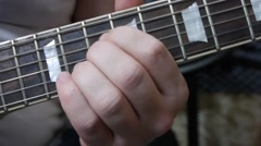 Guitar solo. Close-up. Stock Footage