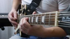 Solo electric guitar Les Paul Stock Footage