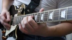 Play On Gibson Les Paul Stock Footage