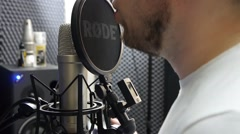 Work in a recording Studio Stock Footage