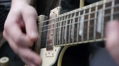 The guitarist plays the guitar Stock Footage