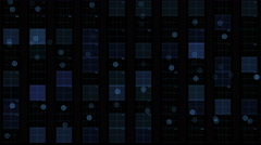 4k Virtual square circuit,science tech lines,matrix dots scanning background. - stock footage