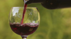 Composition with a bottle of wine and a glass. Stock Footage