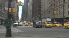 NYC Taxi's Driving Stock Footage