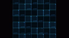 4k Virtual number square,science tech lines,matrix grid scanning background. Stock Footage