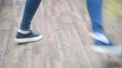 Feet on the floor dancing modern dance rhythmic Stock Footage