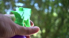 spraying poison pestacisde spraying in yard 1 - stock footage