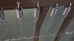 Bed springs steel platform bed frame Stock Footage