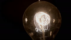 Flickering lightbulb flicker electricity Stock Footage