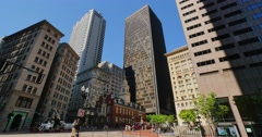 Downtown Boston Skyline with Old State House   Stock Footage