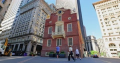 Old State House Day Establishing Shot in Boston   Stock Footage