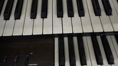 Organ keyboard church organ churchorgan Stock Footage