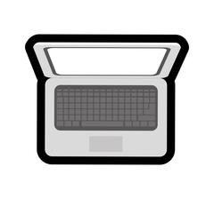 Technology and gadget design. Laptop icon. vector graphic Stock Illustration
