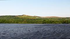 Lower Rivington reservoir and Rivington Pike Stock Footage