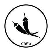 Chili pepper icon Stock Illustration