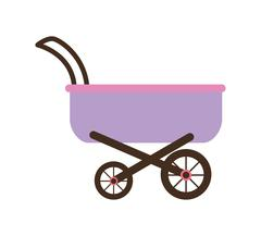 Baby design. stroller icon. isolated image. vector graphic - stock illustration