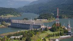 Bonneville Dam Aerial Stock Footage