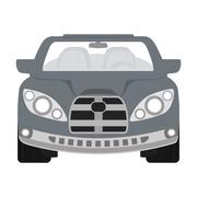 Grey automobile ahead. Transportation icon. vector graphic Stock Illustration