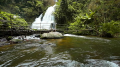 Beautiful waterfall at Doi Inthanon National park in Chiang Mai Thailand. Stock Footage