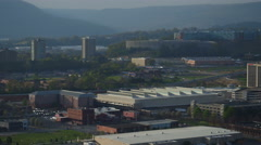 Chattanooga Aerial of cityscape Stock Footage