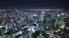 Toronto Cityscape at Night : Time Lapse Stock Footage