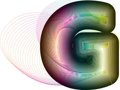 Abstract colorful Letter G - stock illustration