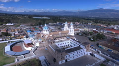 Through Towers of the Church of El Quinche Stock Footage