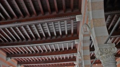 Wooden ceiling Stock Footage