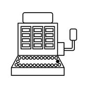 Casino concept. Slot machine icon. vector graphic - stock illustration