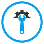 Hardware Maintenance Flat Rounded Vector Icon - stock illustration
